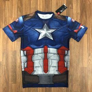 🇺🇸 NWT Under Armour Captain America Compression